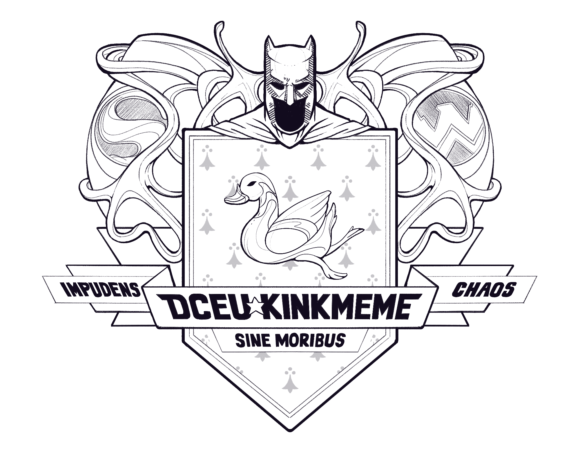 DCEU Kinkmeme Crest inked