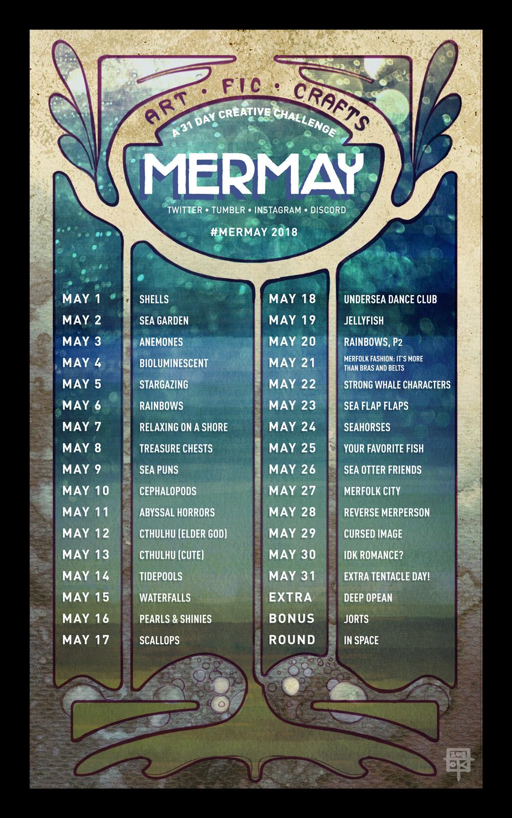 MerMay 2018 Prompt List